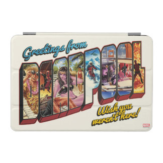 Deadpool Vacation Postcard iPad Mini Cover