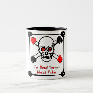 deadseriousskull Two-Tone coffee mug