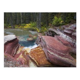 Deadwood Falls on Reynolds Creek in autumn in Postcard