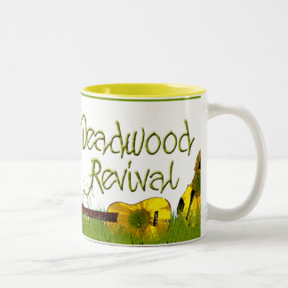 Deadwood Revival in the grass Two-Tone Coffee Mug