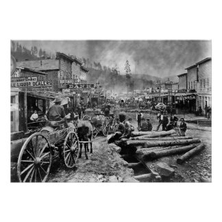 DEADWOOD SOUTH DAKOTA in 1876 Poster