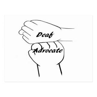 Deaf Advocate Postcard