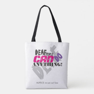 Deaf can-Tote Bag Tote Bag