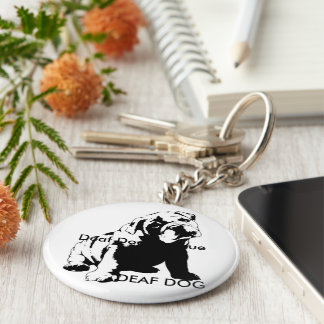 DEAF DOG KEY RING