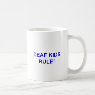 DEAF KID RULE COFFEE MUG