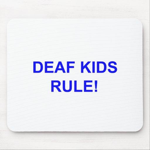 DEAF KID RULE MOUSEPAD