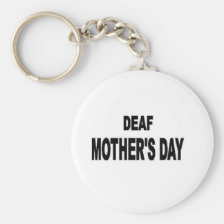 deaf mother's day basic round button key ring