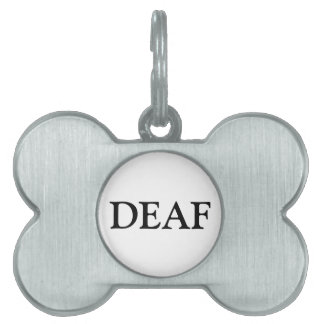 Deaf Pet Tag - Black