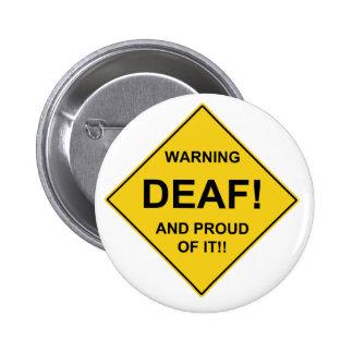 Deaf Proud Pinback Buttons