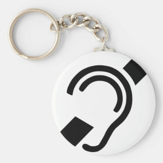 Deaf Symbol Key Ring