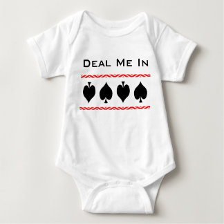 Deal Me In Modern Card Shark Baby Baby Bodysuit