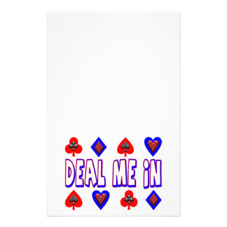 Deal Me In Playing Cards Stationery
