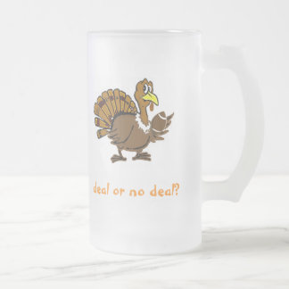 Deal or no deal? frosted glass beer mug