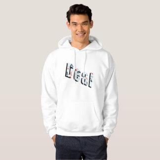 Deal, Poker Logo, Mens White Hoodie