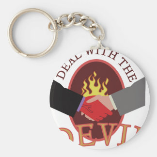 Deal With Devil Key Ring