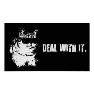 Deal With It - Cool Cat Poster