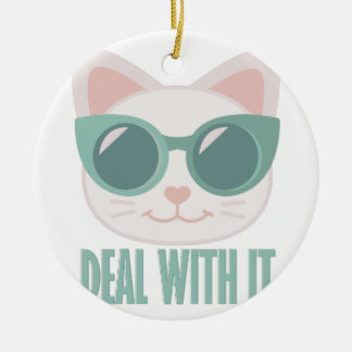 Deal With It Round Ceramic Decoration