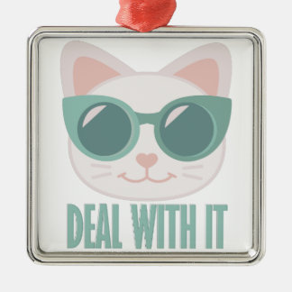 Deal With It Silver-Colored Square Decoration