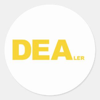 DEAler Round Sticker