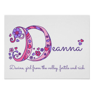 Deanna initial D doodle art name meaning Poster