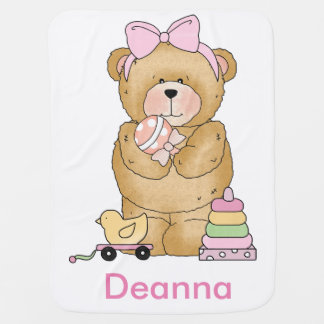 Deanna's Teddy Bear Personalized Gifts Baby Blanket