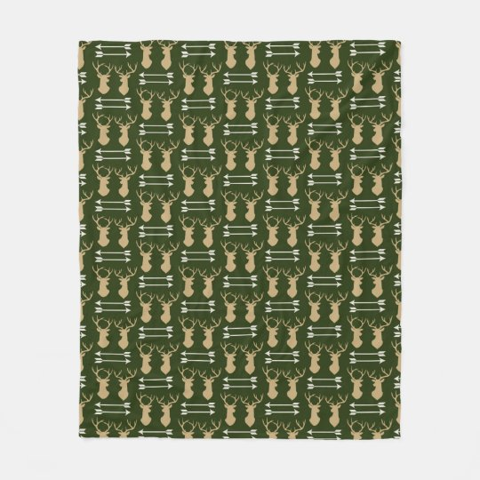 Dear Antler Arrow Pattern Fleece Blanket