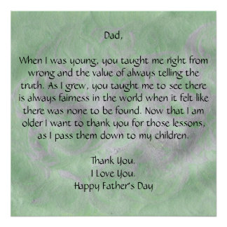 Dear Dad - Father s Day Poster