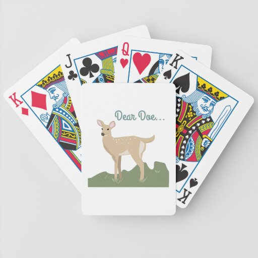 Dear Doe... Bicycle Playing Cards