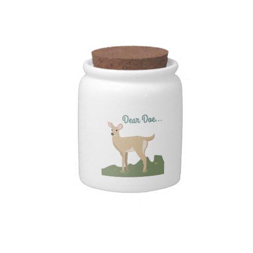 Dear Doe... Candy Jar
