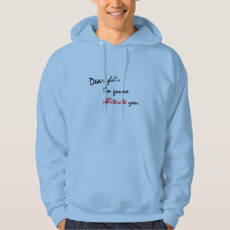 Dear Fat - Funny Mens Hoodie Sweatshirt