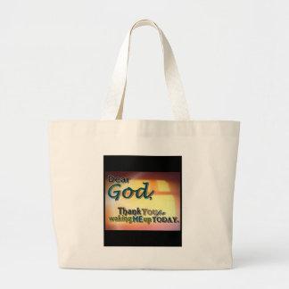 Dear God Canvas Bags