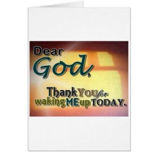 Dear God Card