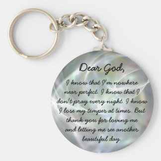 Dear God christian key chain