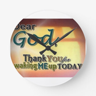 Dear God Round Wall Clocks