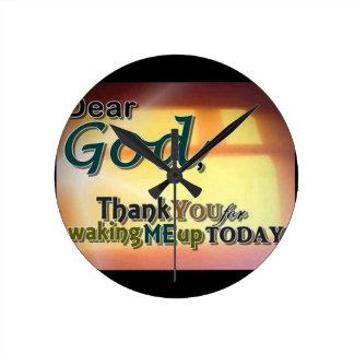 Dear God Round Wallclock