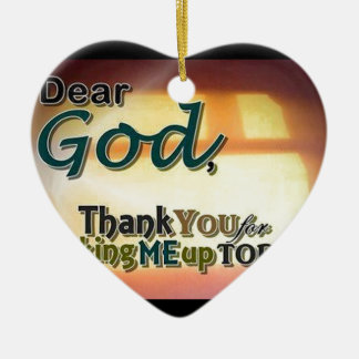 Dear God Christmas Tree Ornament