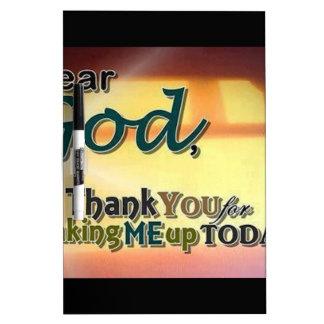 Dear God Dry Erase White Board