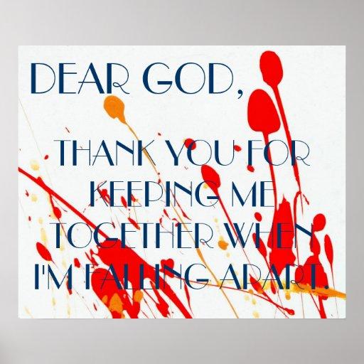 Dear God Prayer Poster