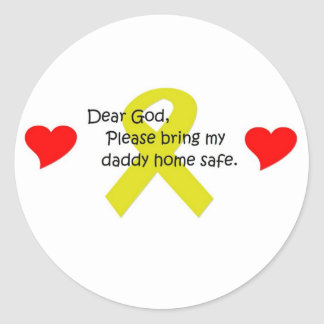 Dear God Round Sticker