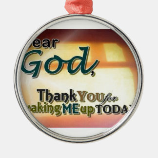 Dear God Silver-Colored Round Decoration