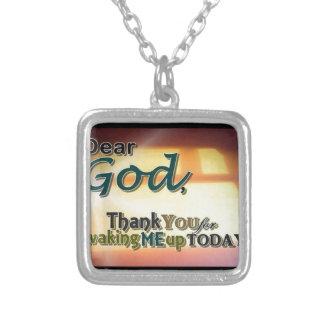 Dear God Square Pendant Necklace