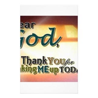 Dear God Personalized Stationery