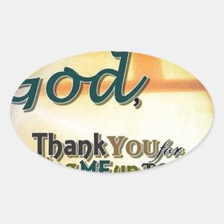 Dear God Oval Sticker