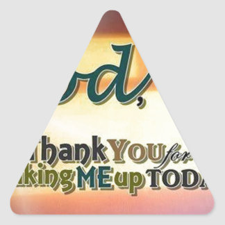 Dear God Triangle Stickers