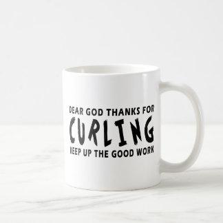 Dear God Thanks For Curling Coffee Mug
