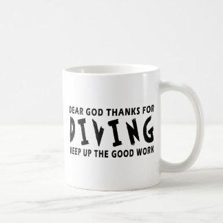 Dear God Thanks For Diving Mugs
