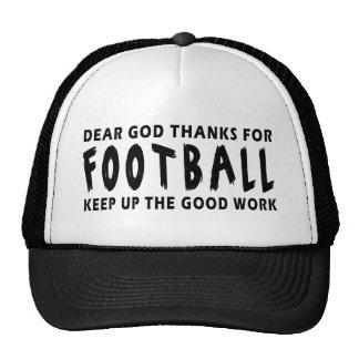 Dear God Thanks For Football Trucker Hat