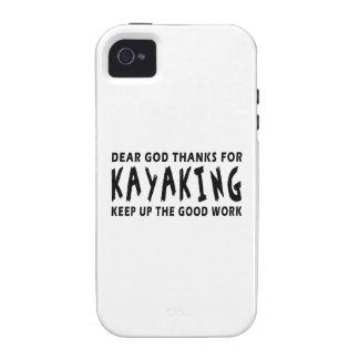Dear God Thanks For Kayaking iPhone 4 Case