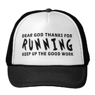 Dear God Thanks For Running Mesh Hats