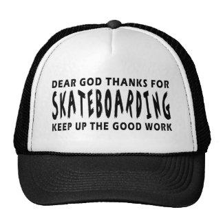 Dear God Thanks For Skateboarding Mesh Hats